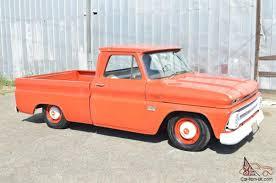 100 Orange Truck Shop 1966 Chevrolet BBW SB Fleetside 77k Miles Patina Survivor