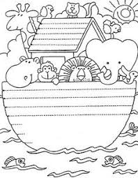 Stitchery Pattern Coloring Page Noahs Ark