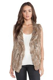 joie andoni rabbit fur vest in warm natural revolve