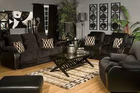 Popular Picture Black Leather Living Room Furniture Sets Inside