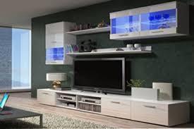 furnistad moderne wohnwand nico exklusive mediamöbel wohnzimmerschrank anbauwand tv schrank led beleuchtung gratis kostenfreie lieferung