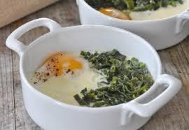 recettes de cuisine avec le vert du poireau œufs cocotte au vert de poireau recette interfel les fruits et