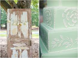 Vintage Door Photobooth Mint Green Wedding Cake By Linacucina Rustic Photography