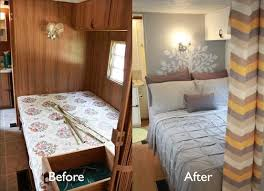 Bedroom RV Renovation DIY Vintage Tri Lynx