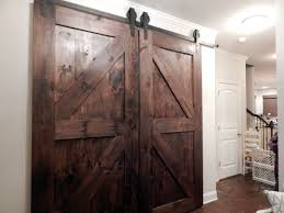 Doors: Sliding Barn Door Hardware Kit | Closet Door Tracks ... 75 8 10 12 13 15 Ft Antique Black Wooden Double Sliding Barn 82ft Closet Door Heavy Adjustable Bypass Spanbarn Hdware Systemspan Beautiful This Is A American Pro Decor Solid Steel Rolling Backyards Featured Image Lowes Installation Traditional Kit Hingeless And Mmi 72 In X 80 Primed 15lite With Double For Two Doors Track