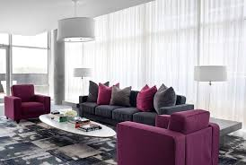 grey and purple living room furniture purple and gray living room