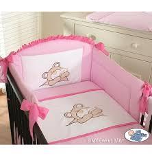 tour de lit bebe garon pas cher tour de lit bébé pas cher fille garçon avec broderie ours câ