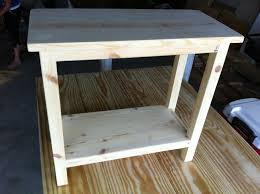 Plans For Ana White Rustic X End Tableend Table Free Diy With Drawers Mission To Build 2x2