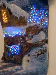 Fibre Optic Christmas Trees Uk by Light Up Snowman Christmas Stocking With Fibre Optic Led Lights