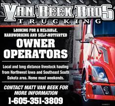 100 Northwest Trucking Operators Van Beek Bros