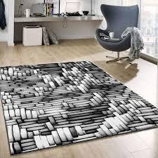tibett011 grau wohnzimmer teppich moderne 3d optik vimoda homestyle