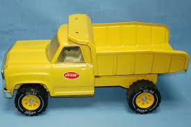 Tonka Toys Construction Yellow Metal Dump Truck Xr Tires Brown Box ...