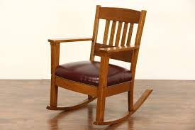 Rocker Arts & Crafts Mission Oak Antique 1905 Rocking Chair, New Leather Arts Crafts Mission Oak Antique Rocker Leather Seat Early 1900s Press Back Rocking Chair With New Pin By Robert Sullivan On Ideas For The House Hans Cushion Wooden Armchair Porch Living Room Home Amazoncom Arms Indoor Large Victorian Rocking Chair In Pr2 Preston 9000 Recling Library How To Replace A An Carver Elbow Hall Ding Wood Cut Out Stock Photos Rustic Hickory Hoop Fabric Details About Armed Pressed Back