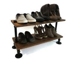 Shoe Rack Industrial Wood Storage Organizer