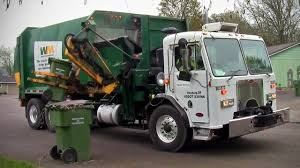 Waste Management Labrie Cool Hand Split Body Garbage Truck - YouTube