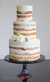 Naked Cakes Dont Have To Be Completely A Little Bit Of Frosting Seminaked Wedding