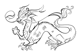 Chinese Dragon Coloring Page Free Printable Pages For Kids Disney