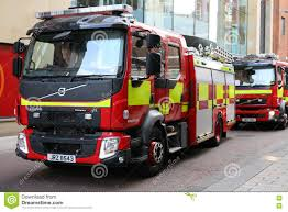 100 Fire Trucks Unlimited Volvo Engines Belfast Brigade Editorial Photo Image Of