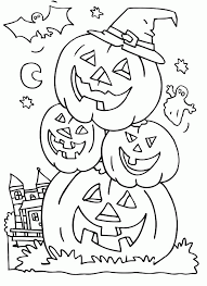 A Spooky Halloween Party Coloring Page