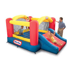 Inflatable Bath For Toddlers by Amazon Com Little Tikes Jump U0027n Slide Bouncer Toys U0026 Games