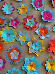 After This I Started Making Paper Flowers From A Selection Of Brightly Coloured Papers Using Traditional Origami Techniques Felt Worked Well And