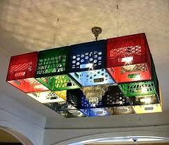 Crate Ideas Pixel Block Style Chandelier Made From Milk Crates For Storage