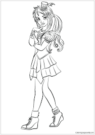 Descendants 2 Coloring Pages Best Images On Carlos