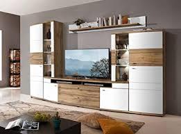 froschkönig24 terra plus 80 wohnwand anbauwand wohnzimmer 4 tlg weiß eiche altholz montiert
