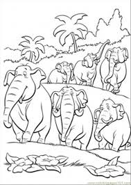 Jungle Scenery Coloring Pages