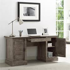 Ameriwood Desk And Hutch In Cherry by Ameriwood Sienna Park Double Rustic Gray Pedestal Desk 9894096com
