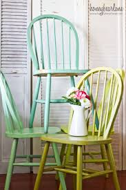100 Dining Chairs Painted Wood Ombre Windsor Honeybear Lane