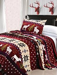 christmas bedding holiday bedroom ideas snowman and santa claus