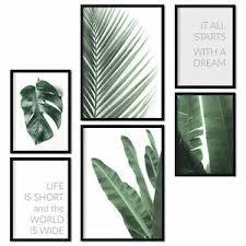 details zu premium poster set 6er bilder deko wohnzimmer modern schlafzimmer bild green