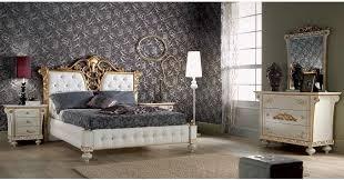 bett 180 x 200 cm in weiss gold für schlafzimmer luxus