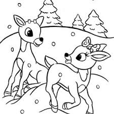 Fresh Ideas Rudolph Coloring Pages Nice The Red Nosed Reindeer And Clarice Are