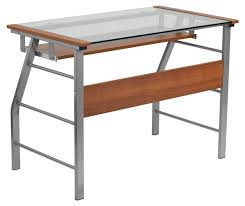 Small Glass And Metal Computer Desk by Office Sensational Brielle Computer Desk Glass And Metal