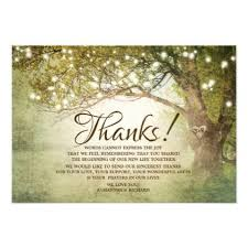 Rustic Country String Lights Wedding Thank You Card