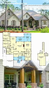 One Story Craftsman House Plans Beautiful Plan Hz With Rustic Exterior And Bonus