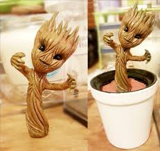 Once The Airdry Clay Fully Dried I Got Glued Groot Into Indent Made Earlier And Then Poured In A Whole Layer Of Triple Thick Glaze To Really Seal