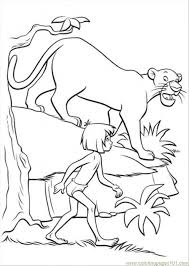 Coloring Pages Bagheera And Mowgli Cartoons The Jungle Book