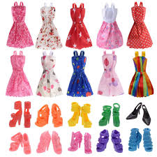 Amazoncom Clothes For Doll 10 Pieces Party Gown Outfits With 10