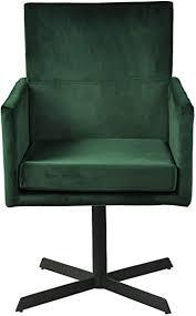 esszimmerstuhl drehstuhl golia stoffbezug in samt tannen grün polsterstuhl in modernen farben schwarzes fußgestell 55 x 55 x 87 cm