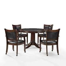 Reynolds 5 Piece Rustic Mahogany Game Table Set
