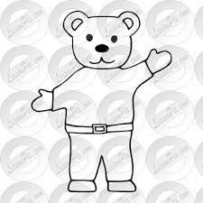 Papa Bear Outline For Classroom Therapy Use