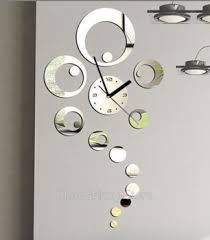 Get Quotations Free Shipping 3D Mirror Wall Sticker Home Decor Big Ring Decorative Clock Watche Modern