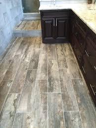 Fake Wood Tile Floor Faux Bathroom Under Heating Below