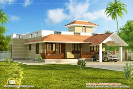 Simple Single Level House Placement by Kerala House Model Style Home Design Architecture Plans