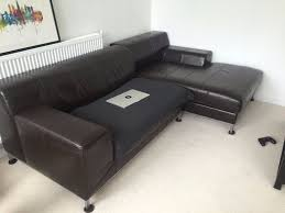 ikea kramfors brown leather corner sofa in london gumtree