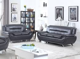 100 Modern Living Room Couches Norton 2 Pc Black Faux Leather Sofa And