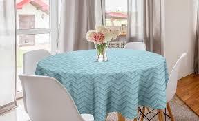 abakuhaus tischdecke kreis tischdecke abdeckung für esszimmer küche dekoration vintage blue 4 linien retro style kaufen otto